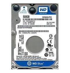 """HARD DISK-500GB SATA 2.5"""" INT.WD BLUE"""