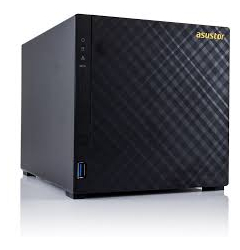 NAS-ASUSTOR,4 BAY,DS,MARVELL,D/C,512MB